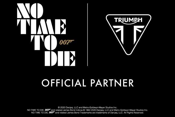 トライアンフ、007シリーズ 25作目 「No Time To Die」と新たなパートナーシップ締結